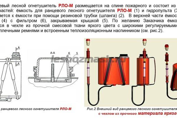 Ранцевый лесной огнетушитель РЛО-М (с чехлом)